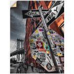Graue Moderne Artland New York Bilder mit New York Motiv strukturiert