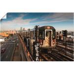Artland Wandbild »New York Subway Linie 7«, Züge (1 Stück), in vielen Größen & Produktarten - Alubild / Outdoorbild für den Außenbereich, Leinwandbild, Poster