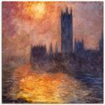 Artland Wandbild Parlament in London bei Sonnenuntergang, Sonnenaufgang & -untergang, (1 St.) rot Bilder Bilderrahmen Wohnaccessoires