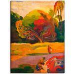 Rote Moderne Artland Paul Gauguin Bilder & Wandbilder strukturiert
