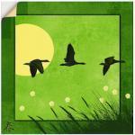 Grüne Moderne Artland Bildersets mit Tiermotiv