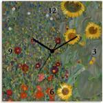 Artland Wanduhr Garten mit Sonnenblumen grün Wanduhren Uhren Wohnaccessoires