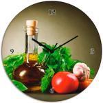 Artland Wanduhr Gesundes Gemüse und Gewürze grün Wanduhren Uhren Wohnaccessoires
