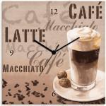 Artland Küchenuhren mit Kaffee-Motiv aus Kiefer für Kinder