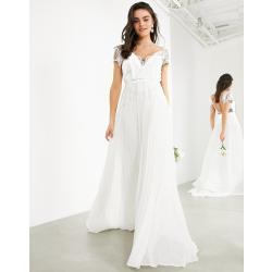 Weiße Asos Brautkleider & Hochzeitskleider mit Reißverschluss für Damen