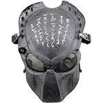 ATAIRSOFT Alien Vs. Predator Schutzmaske Airsoft Halloween Scary Maske Vollgesichtsmaske CS Paintball Maske für Cosplay Masquerade Schwarz