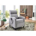 ATLANTIC home collection TV-Sessel, mit Relax- und Schlaffunktion grau TV-Sessel Fernsehsessel Sessel