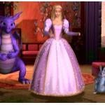 Auf Bestellung Rapunzel Barbie Kleid Cosplay Kostüm Halloween