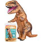 Aufblasbares XXL Kostüm Dinosaurier | Ausgefallenes Auflbaskostüm | Premium Qualität | Größe Erwachsene | Polyester | Angenehm tragbar | Resistent | Mit Aufblassystem | OriginalCup®