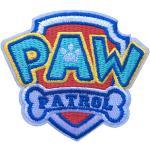 Aufnäher/Aufbügler, Cartoon-Motiv, klassisches Paw Patrol-Logo, Cosplay-Abzeichen, bestickt, zum Aufbügeln oder Aufnähen.