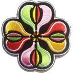 Aufnäher/Bügelbild - Blume - mehrere Farben auswählbar - 7.3 x 7.3 cm - by catch-the-patch® Patch Aufbügler Applikationen zum aufbügeln Applikation Patches Flicken, Farbe:rot