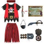 Schwarze Piratenkostüme für Jungen