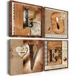 Aufschrift Love Vintage Liebe Wandbilder Xxl Bilder Vlies Leinwand 020115-30
