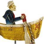 Authentic Models - Balance-Figur, Pendelfigur - Motiv: Salty Dog, Matrose im Boot - Höhe: 54 cm