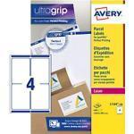 Avery L7169-100 Paketetiketten DIN A4 Weiß 139 x 99,1 mm 100 Blatt à 4 Etiketten