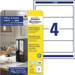 AVERY Zweckform L4761REV-10 Ordnerrücken Etiketten (40 Rückenschilder mit ultragrip, 61x192mm auf A4, wiederablösbar, breit/kurz, selbstklebend, blickdicht, bedruckbare Aufkleber) 10 Blatt, weiß