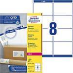 AVERY Zweckform Versandetiketten L7165-100 Ultragrip Weiß DIN A4 99,1 x 67,7 mm 100 Blatt à 8 Etiketten
