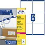 AVERY Zweckform Versandetiketten L7166-100 Ultragrip Weiß DIN A4 99,1 x 93,1 mm 100 Blatt à 6 Etiketten