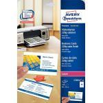 Avery Zweckform Visitenkarten weiß, 220g, 85x54 mm, satiniert, 25Bl=250 Karten