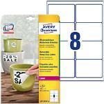 AVERY Zweckform Wetterfeste Etiketten L4715REV-20 Weiß DIN A4 67 x 99,1 mm 20 Blatt à 8 Etiketten