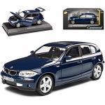 B-M-W 1er E87 5 Türer Blau 2004-2011 1/24 Cararama Modell Auto