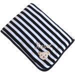Babydecke mit Ihrem Wunsch Namen bestickt marine/weiß Steiff Collection 2890, 90 cm x 60 cm