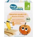 Babysnack Knusper-Schnitte Banane & Kürbis ab 8.Monat, 6x14g Freche Freunde (84 g)