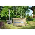 Badebottich 160 cm + Außenofen Badefass Badebecken Badezuber Holz Bausatz Fass