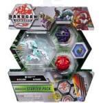 Bakugan- Starter Pack mit 3 Bakugan, Geschicklichkeitsspiel mit 3 Armored Alliance Bakugan (Ultra Haos Trox, Basic Darkus Pharol, Basic Pyrus Nillious)