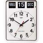 Balance-Zeit-Kalender Wanduhr schwarz/weiß