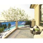 Balkonbespannung PVC Beach 115x500 cm (geöst alle 50 cm)