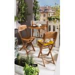 Balkonhängetisch Cayenne 60 x 44 cm Holz Braun