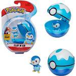Bandai – Pokémon – Pokéball & Figur Clip 'N' Go – 1 Scuba Ball + 1 Figur 5 cm Tiplouf (Piplup) – Zubehör zum Verkleiden als Pokémon-Spieler – WT97899