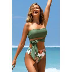 Cupshe High Waist Bikinis gepolstert für leichten Halt
