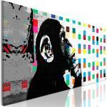 Banksy Affe Mural Wandbild Xxl Streetart Kunstdruck Abstrakt Leinwand Bilder