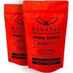 Barazzo Jerky Pork Barbecue 1 kg - 2x500g Maxibeutel - proteinreicher Trockenfleisch Snack mit wenig Fett - Hergestellt vom Deutschen Handwerk - Beef Jerky/Biltong