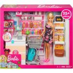 Barbie Anziehpuppe »Supermarkt und Puppe« (Set, 20-tlg., inkl. Supermarkt), beige