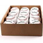 "BARNETT TS-1 Baseball Ball Training Baseball, Grösse 9""(inch), Farbe weiß, 12 Stück (1 Dutzend)"