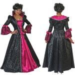Barock Lady Cassandra Damenkostüm - schwarz/pink