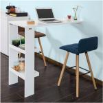 Bartisch Küchentisch Wandtisch mit 2 Regalfächern BHT ca.: 120x106x45cm FWT55-W - Sobuy