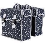 Basil Mara XL Doppelte Fahrradtasche 35l schwarz/weiß 2021 Gepäckträgertaschen