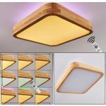 Batamoto LED Panel Weiß, Holz hell, 2-flammig, Fernbedienung, Farbwechsler - Modern - Innenbereich - versandfertig innerhalb von 2-4 Werktagen