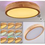 Batamoto LED Panel Weiß, Holz hell, 2-flammig, Fernbedienung, Farbwechsler - Modern - Innenbereich - versandfertig innerhalb von 4-8 Werktagen