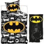 Batman Kinderbettwäsche » - Wende-Bettwäsche-Set, 135x200 cm und Badetuch, 70x140 cm«, 100% Baumwolle
