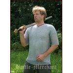 Battle-Merchant Kettenhemd, Kurzarm, verzinkt, Gr. M