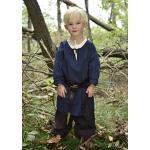 Battle-Merchant Mittelalter Kinder Tunika Arn - Unisex - Baumwolle - Mittelalterkleidung - Wikinger - Pirat- Ritter - Kostüm - Karneval - Fasching - LARP, blau, Gr. 146