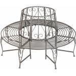 Baumbank 360° aus Stahl - Bank, Gartenbank, Parkbank - anthrazit
