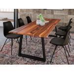 Reduzierte Hellbraune Moderne Essgruppen & Tischgruppen lackiert Breite 150-200cm, Höhe 150-200cm, Tiefe 150-200cm