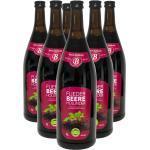 Bavaria Waldfrucht Fliederbeere Holundersaft aus Holunderbeersaftkonzentrat 6x 1l Flasche