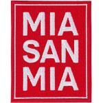 Bayern München Aufnäher - MIA SAN MIA - 10 x 7.8 cm Patch, Aufbügler FCB - Plus Lesezeichen I Love München